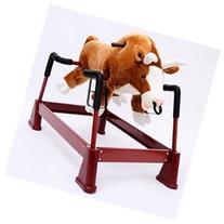 Qaba Kids Play Toy Plush Rocking Horse Bull Theme Riding
