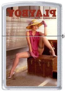 Zippo Playboy June 1984 Cover Satin Chrome Windproof Lighter