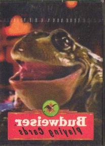Budweiser Playing Cards with Laughing Frog