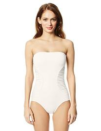 Vince Camuto Women's Pleating Waves Bandeau One Piece