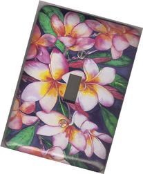 "Plumeria Light Switch Plate - ""Plumeria"". Artwork by Candace"