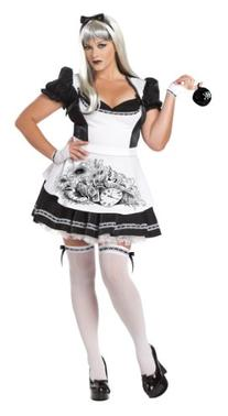California Costumes Plus-Size Dark Alice Dress, Black/white