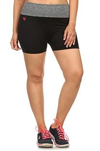 Simplicity Junior's Sport Gym Biker Exercise Yoga Shorts,