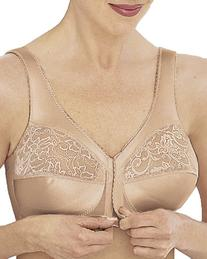 Glamorise Women's Plus Size Front Hook Soft Cup Bra By Magic