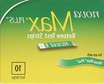 Nova Max Plus Ketone Test Strips - 40 Ct