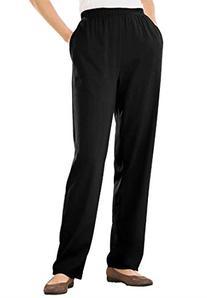 Women's Plus Size Straight Leg 7-Day Knit Pants Berry Pink,