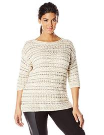 Lucky Brand Women's Plus-Size Metallic Pullover Sweater,