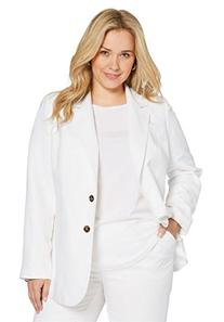 Jessica London Women's Plus Size Single-Breasted Linen