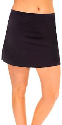 Black Plus Size Side Slit Skirt Black 10
