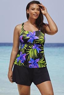 63e22475913 Beach Belle Women s Plus Size Palm Springs Flared Shortini