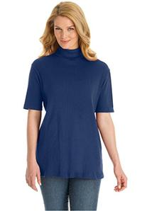 Woman Within Women's Plus Size Turtleneck In Soft Ribbed
