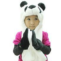 Plush Animal Winter Hats with Paws,Panda