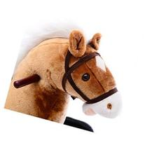Qaba Kids Plush Spring Horse Rocker w/ Realistic Sounds