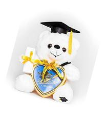 "8"" Graduation Plush Teddy Bear with Cap and Diploma in Hand"