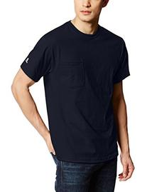 Russell Athletic Men's Pocket Tee, J Navy, Large