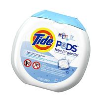 Tide PODS Free & Gentle HE Turbo Laundry Detergent Pacs 72-