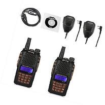 2 Pack Baofeng Pofung 2015 UV-6R Dual-Band Two-Way Radio