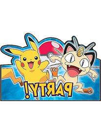 American Greetings Pokemon Party Invitations Cards,