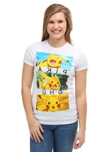 Womens Pokemon Pikachu Emotion Boxes T-Shirt