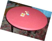 """Red Felt Poker Table Cover - fitted Bonnet - FOR Round 60"""""""