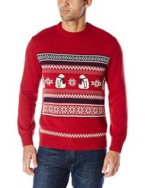 Dockers Men's Polar Bear Cotton Crew Holiday Party Sweater,