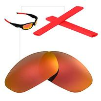 Walleva Polarized Replacement Lenses + Rubber For Oakley