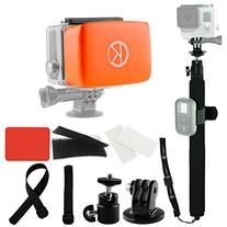 CamKix Pole and Floater Bundle for GoPro Hero 4, 3+, 3, 2, 1