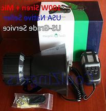 Cool Zingers 100 Watt Police Siren 5 Sound Emergency Vehicle