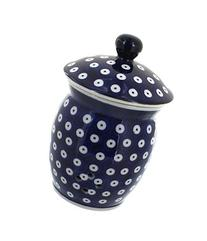 Polish Pottery Dots Garlic Keeper