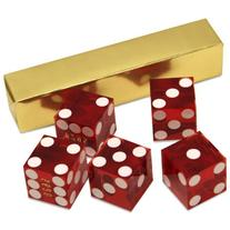Set of 5 Grade AAA 19mm Casino Dice with Razor Edges and