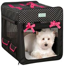 Crusing Companion  Polka Dot Collapsible Crate Small Black