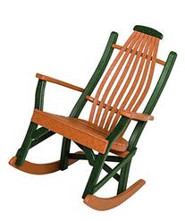 Poly Lumber Bentwood Style Rocking Chair in Weathered Wood