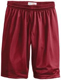 Soffe Big Boys' 7 Inch Poly Mini Mesh Short, Cardinal, X-