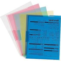 Staples Poly Project Jackets, Letter, Assorted Transparent,