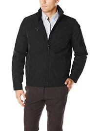 Tommy Hilfiger Men's Poly Twill Stand Collar Zip Front