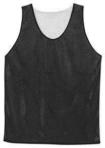 Badger Polyester Mesh Reversible Tank in Black w/ White in
