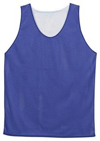 Badger Polyester Mesh Reversible Tank in Royal and White in