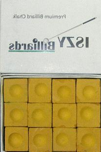 Premium Pool Table Billiard Cue Chalk 144 Pieces Mustard