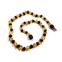"Hazelaid  12"" Pop-Clasp Baltic Amber Lemon & Cherry Necklace"