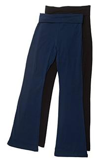 2 Pack Popular Basic Women's Fold Down Waist Yoga Pants
