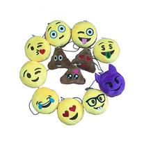 "Giftoys 2"" Popular Mini Emoji Pillow Plush Keychain Handbag"