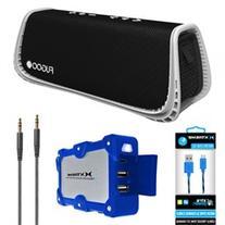 Fugoo Sport XL Port. Waterproof Bluetooth Speaker B&W w/
