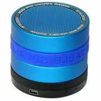 SYN Portable Bluetooth Speaker with 8 Customizable Color Bands - Blue Speaker
