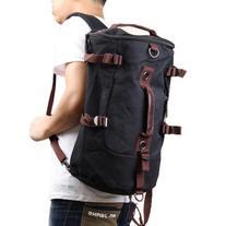 Vktech Portable Canvas Man Boy Backpack Rucksack Travel
