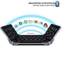 LinDon-Tech® Portable Foldable Bluetooth Keyboard Ultra-