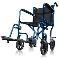 Hugo Portable Lightweight Transport Wheelchair with