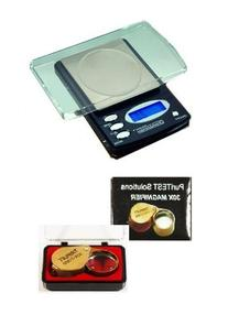 Portable Pocket Scale with 30x Magnifying Glass Lens - Tools