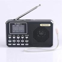 Mfine 938B Black Portable Speaker AM/FM Radio Music Player
