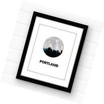 Portland, Oregon skyline art   Portland wall art   giclee