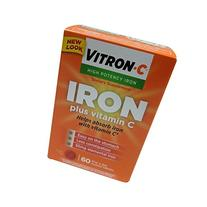 VITRON-C High Potency Iron Plus Vitamin C Tablets - 60 Ea -